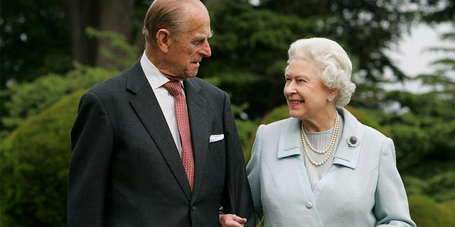 The Queen Elizabeth II and Prince Philip, The Duke of Edinburgh re-visit Broadlands, to mark their Diamond Wedding Anniversary on November 20