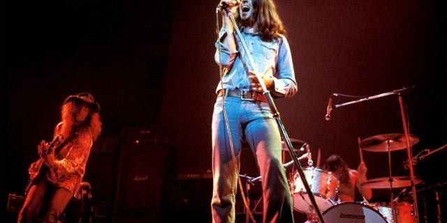 Ian Gillan performing live onstage circa '70s.