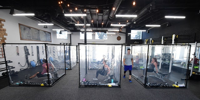 California gym reopens with individual pods to maintain social distancing
