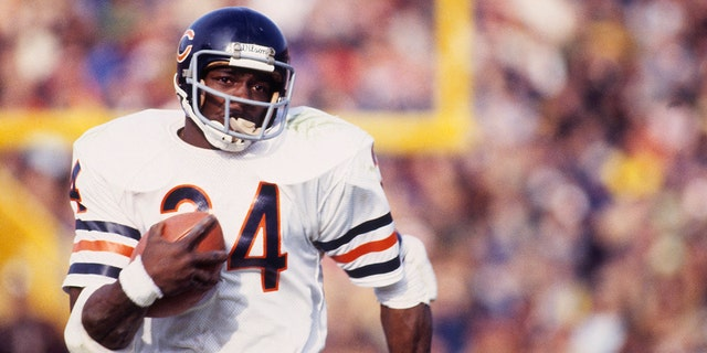 Walter Payton is regarded as the greatest running back in league history. (Photo by Focus on Sport via Getty Images)