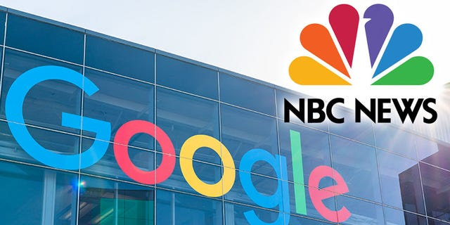 Google took action against conservative sites after reportedly receiving information from NBC News. (Alex Tai/SOPA Images/LightRocket via Getty Images, Montage)