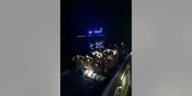 Border agents stopped a boat last week off the coast of San Diego with 18 undocumented immigrants abroad.