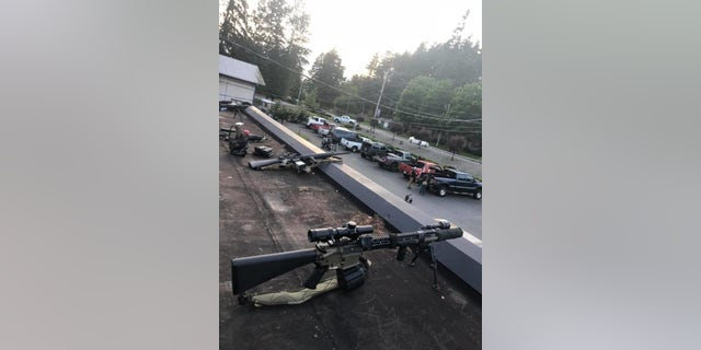 """Melissa Denny, owner of Pistol Annies gun store in Bonney Lake, WA said she received """"tremendous"""" support from her community in safeguarding her store over the past 12 days."""