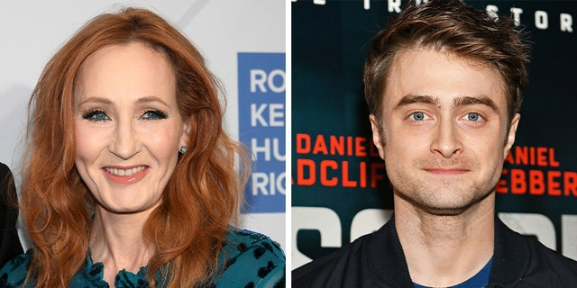 J.K. Rowling (left) and Daniel Radcliffe.