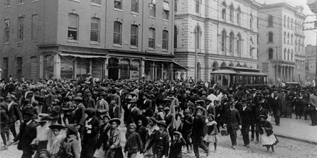 Emancipation Day celebration in Richmond, Va., in 1905.