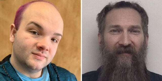 Mark Latunski, 50, right, is facing murder and mutilation of a body charges in the death of Kevin Bacon, 25, of Swartz Creek near Flint, left. (Facebook/ Shiawassee County Jail)