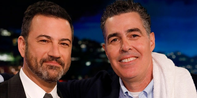 Adam Carolla defended former co-host Jimmy Kimmel in a black-faced controversy.