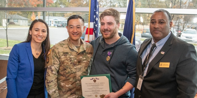 Former U.S. Army sniper Kyle Prellberg was awarded the Purple Heart in 2019.