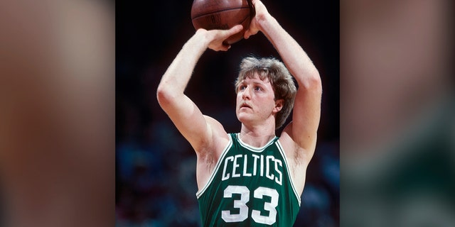 Boston Celtics legend Larry Bird is the No. 9 greatest player in NBA history. (Photo by Focus on Sport via Getty Images)