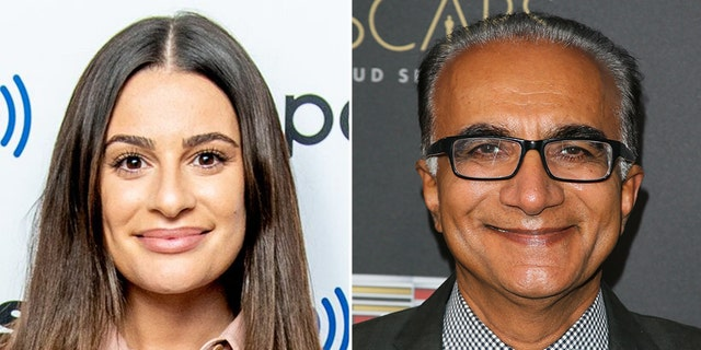 'Glee' stars Lea Michele and Iqbal Theba.