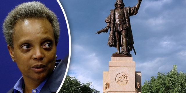 Chicago Mayor Lori Lightfoot was considering removing a statue of Christopher Columbus from Grant Park as early as Thursday night, reports said.