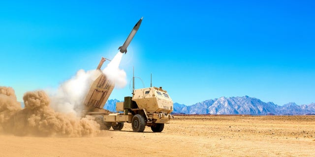 An artist's impression shows the launching of a Precision Strike Missile.
