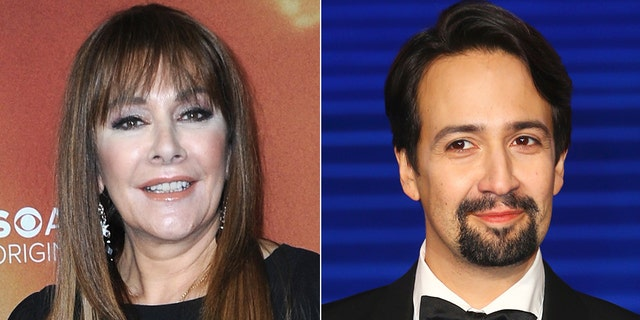 Marina Sirtis, left, has apologized for going after Lin-Manuel Miranda, right, on Twitter.