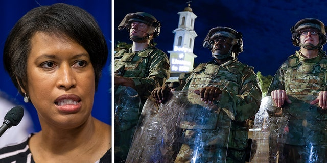 Washington, D.C. Mayor Muriel Bowser, pictured on the left, after kicking out Utah National Guard soldiers deployed to the nation's capital as demonstrators gather to protest the death of George Floyd, Thursday, June 4, 2020. (AP Photo/Alex Brandon)