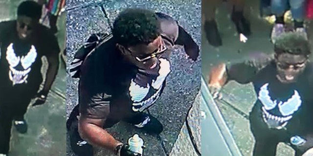 New Orleans police said they the person in the photo is being sought for vandalizing a statue to a slave owner after a protest against racism.<br><br>