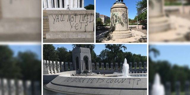 Vandals damaged the Lincoln Memorial,the World War II Memorial and the statue of General Casimir Pulaski on the National Mall in Washington amid George Floyd protests.