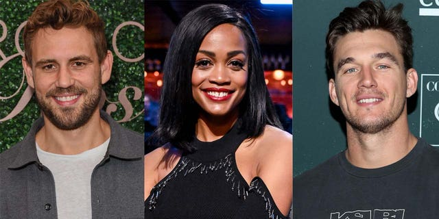 Nick Viall (left), Rachel Lindsay and Tyler Cameron are three of the 'Bachelor' franchise alums who reportedly have supported the petition to cast a black lead for the show's 25th season.