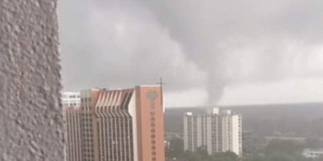 A tornado spun through downtown Orlando, Florida, on June 6, after it was spawned by the outer edges of Tropical Storm Cristobal.