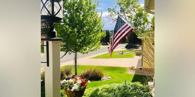 Old Glory flies from home of Paul Batura in Colorado Springs.