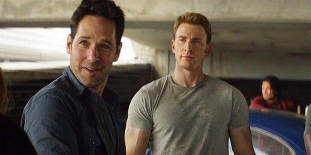 "Paul Rudd (left) and Chris Evans in ""Captain America: Civil War."""