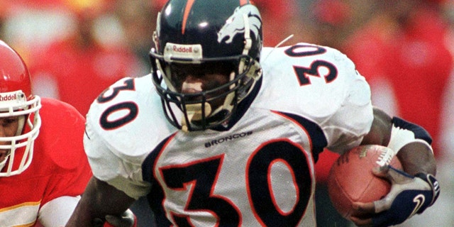 Running back Terrell Davis won two Super Bowl titles with the Broncos. (Reuters)