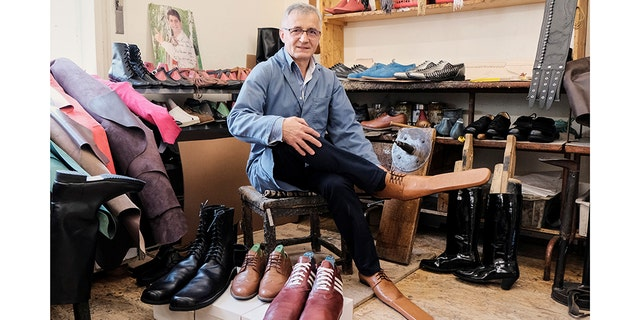 Grigore Lup, the man behind the design, has been making leather shoes for 39 years.