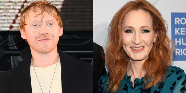 Rupert Grint, left, disagreed with J.K. Rowling's comments on transgender people.