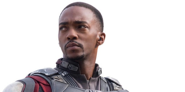 Anthony Mackie as Marvel superhero The Falcon.