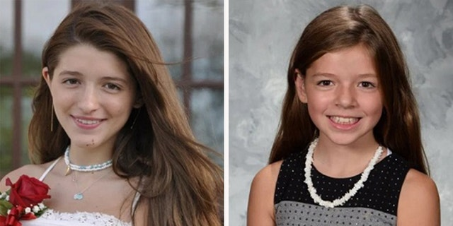 Scout Scaravilli, 14, left, and her 12-year-old sister Chasey.