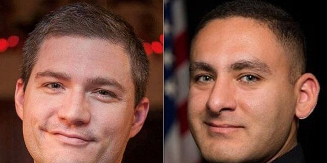 Shooting victims, Sgt. Craig Johnson, left, andOfficer Aurash Zarkeshan of theTulsa Police Department