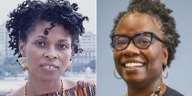 Assata Shakur, also known as Joanne Chesimard, a convicted cop killer in the FBI Most Wanted Terrorists list (left), andMona Hicks, Stanford University's senior associate vice provost and dean of students. (Getty/Stanford University)