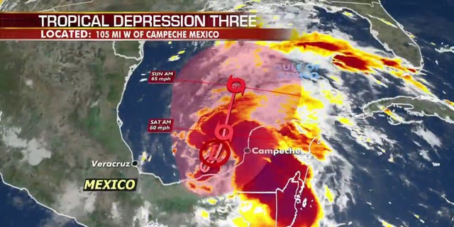 Tropical depression forms in Gulf of Mexico, 'life-threatening' rain for south Mexico, Central America 60