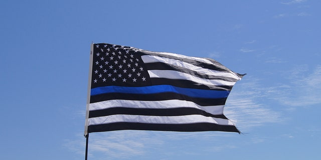 "An Ohio school district is banning ""thin blue line"" flags after a high school football player carried one onto the field to honor local first responders, including a coach who is also a police officer."