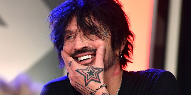 Tommy Lee of Mötley Crüe speaks during the press conference for The Stadium Tour Def Leppard - Motley Crue - Poison at SiriusXM Studios on Dec. 04, 2019 in Los Angeles, Calif. (Photo by Emma McIntyre/Getty Images for SiriusXM)