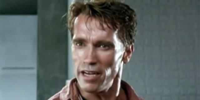 Arnold Schwarzenegger appears in 'Total Recall.'