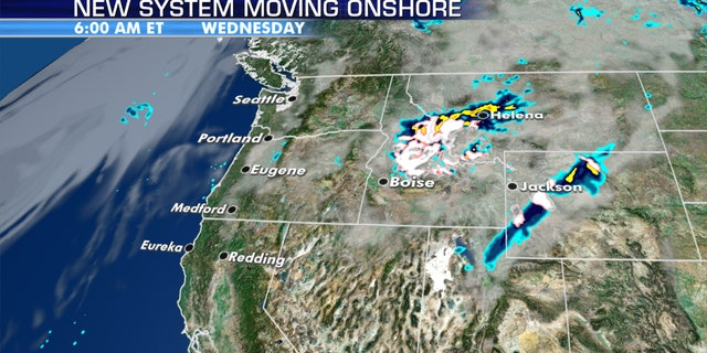 Up to a foot of snow is forecast to fall in the northern Rockies as the Northwest sees cool temperatures.
