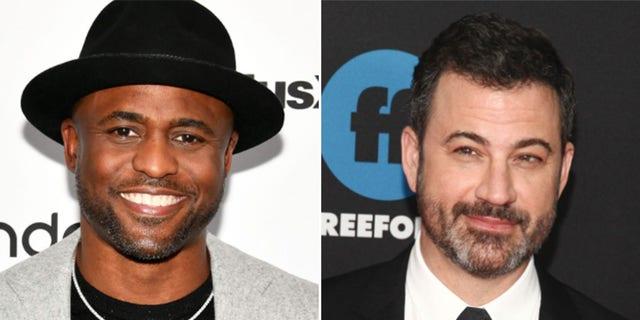 Wayne Brady (L) and Jimmy Kimmel (R)