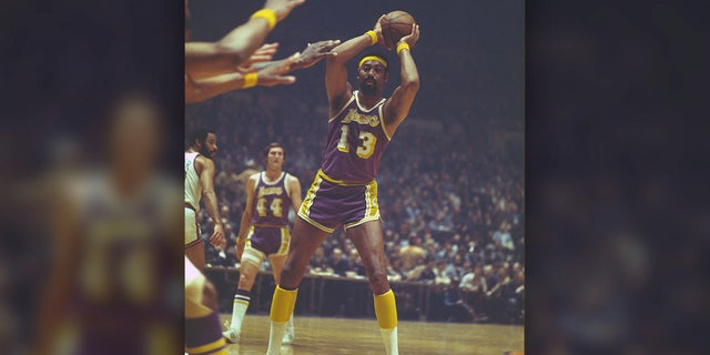 Wilt Chamberlain, a four-time NBA MVP, comes in at No. 8. (Photo by Focus on Sport/Getty Images)