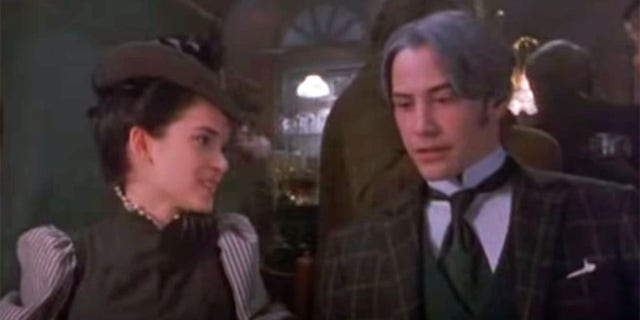 Winona Ryder and Keanu Reeves in the 1992 film 'Dracula.'