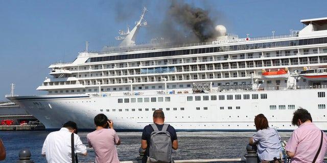 Westlake Legal Group asukaIIAP-PhotoKoji-Sasahara Fire breaks out on cruise ship docked near Tokyo; operator investigating cause Michael Bartiromo fox-news/world/world-regions/japan fox-news/travel/general/cruises fox news fnc/travel fnc b2f20952-3d1a-58c8-8680-b9cf3c17381d article