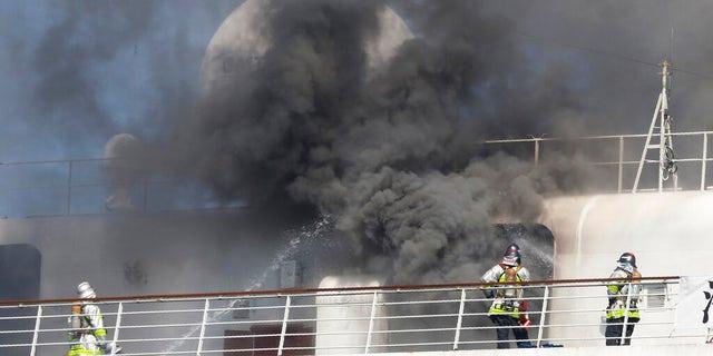 Westlake Legal Group asukaIIAP-PhotoKoji-Sasahara3 Fire breaks out on cruise ship docked near Tokyo; operator investigating cause Michael Bartiromo fox-news/world/world-regions/japan fox-news/travel/general/cruises fox news fnc/travel fnc b2f20952-3d1a-58c8-8680-b9cf3c17381d article