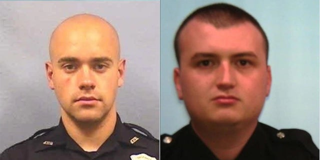 Atlanta police Officer Garrett Rolfe, left, has been fired while Officer Devin Bronsan has been reassigned following the death of Rayshard Brooks, authorities say. (Atlanta Police Department)