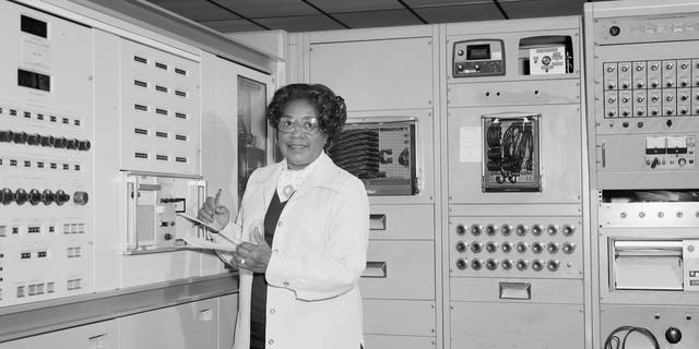 This 1977 photo made available by NASA shows engineer Mary W. Jackson at NASA's Langley Research Center in Hampton, Va. - file photo.