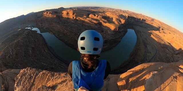 Sequoia Schmidt, 29 ahead of a BASE jump in Utah