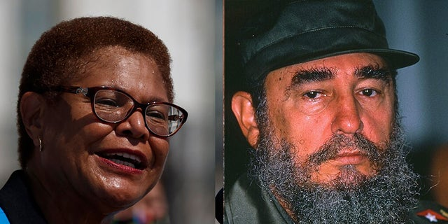 Westlake Legal Group bass-castro-split Biden VP hopeful Karen Bass slammed over past praise for Fidel Castro: report fox-news/world/world-regions/cuba fox-news/us/us-regions/west/california fox-news/politics/house-of-representatives fox-news/politics/elections fox-news/politics/2020-presidential-election fox-news/person/joe-biden fox news fnc/politics fnc Dom Calicchio article 93cf1424-cbbd-58de-b22a-5a2d73cb63be