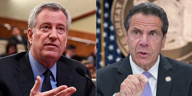 New York City Mayor Bill de Blasio and New York Gov. Andrew Cuomo were sued by Catholic priests and Orthodox Jewish congregants for using coronavirus restrictions to discriminate against people of faith. (AP)