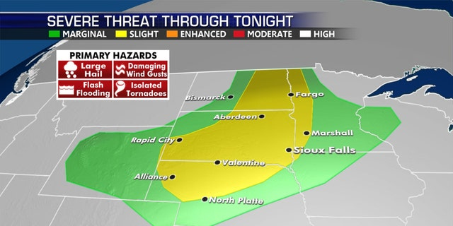 Severe weather is possible across the Northern Plains on Thursday.