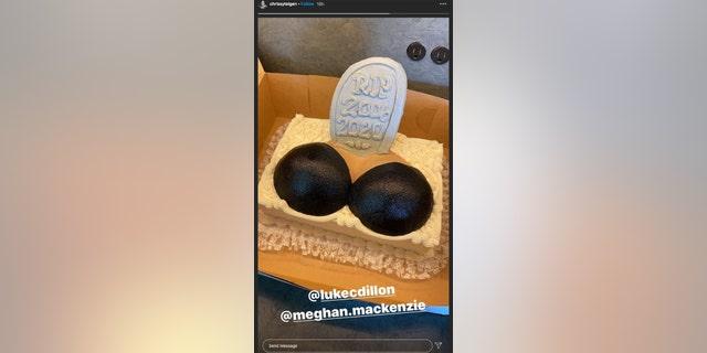 Chrissy Teigen breast implant removal cake (Photo by Chrissy Teigen Instagram)