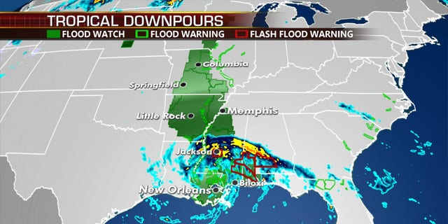 Tropical Depression Cristobal is bringing the threat of flooding.