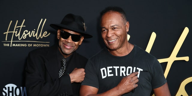 """immy Jam and Ray Parker Jr. attend the Premiere Of Showtime's """"Hitsville: The Making Of Motown"""" at Harmony Gold on August 08, 2019."""
